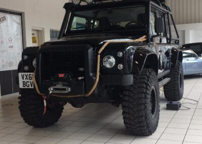 Jeep from the film Skyfall at Premier Garage, Leek